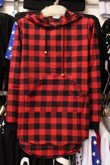 e4fd60d6c6e The new autumn wear men s plaid shirt with cap hooded long-sleeved shirt  Man hat shirt