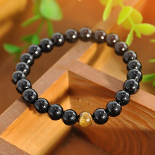 Natural srone Black Buddhist Buddha Meditation Beads Bracelets Jewelry Prayer Hand made Bead Mala Bracelet(China)
