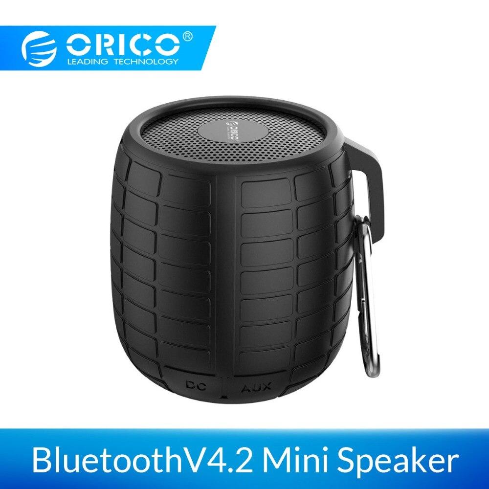 ORICO Outdoor Mini Wireless Bluetooth Portable Speaker V4.2 Hifi Stereo Bass Aluminum Shock Resistance IPX5 Waterproof Speaker