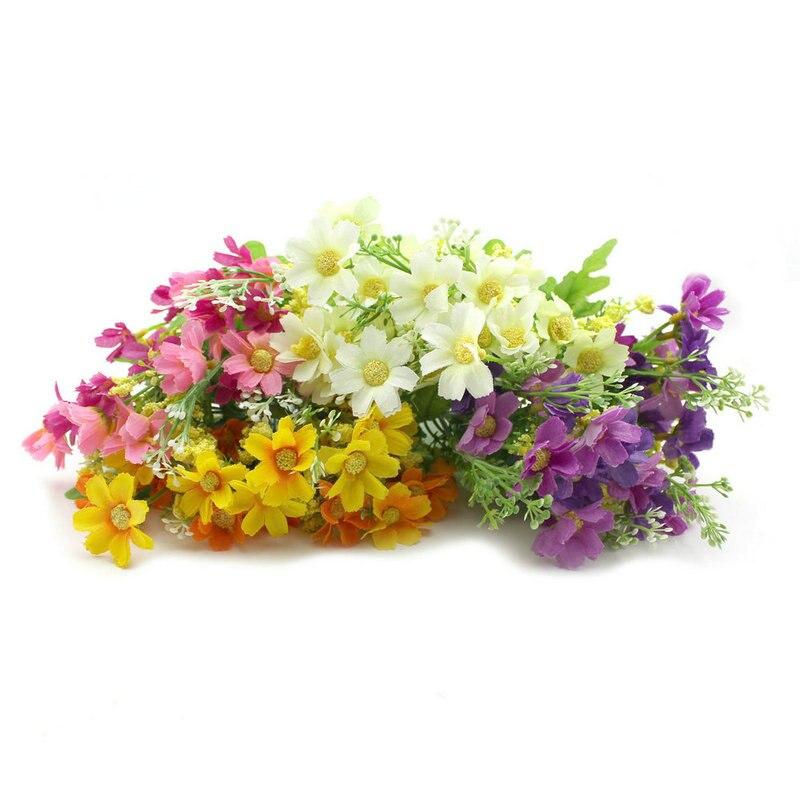 1Pc Artificial Fake Flowers Floral Home Decor Chrysanthemum Bouquet Pot Home Office Desk ...