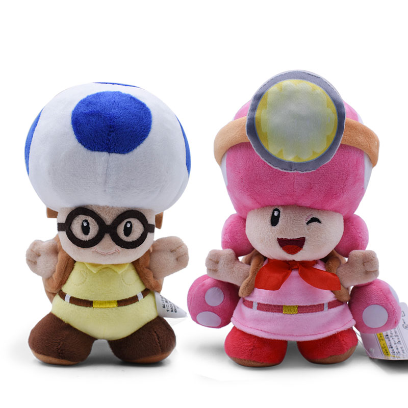 2 Styles Anime Super Mario Bros Toad Toadette <font><b>Peluche</b></font> Backpack Treasure Tracker Doll Plush Soft Stuffed Baby Toy Christmas Gift image