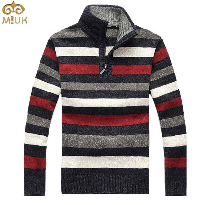 MIUK MIUK Stripes Design Men Sweater Thick Sample Large Size XXL ...