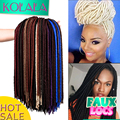 24 roots Faux Locs crochet Braiding hair Extensions 18 Inch Havana Mambo Faux Locs Twist Crochet Goddess Faux Locks Braids hair
