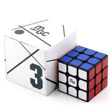 Yongjun YJ MGC 3x3x3 Магнитный магический куб наклейка черный куб головоломка для начинающих Professional Magic Cube игрушки для детей