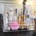 M caja de almacenamiento de maquillaje gran organizador de maquillaje acrílico o plástico con cajones y cubiertas C5061