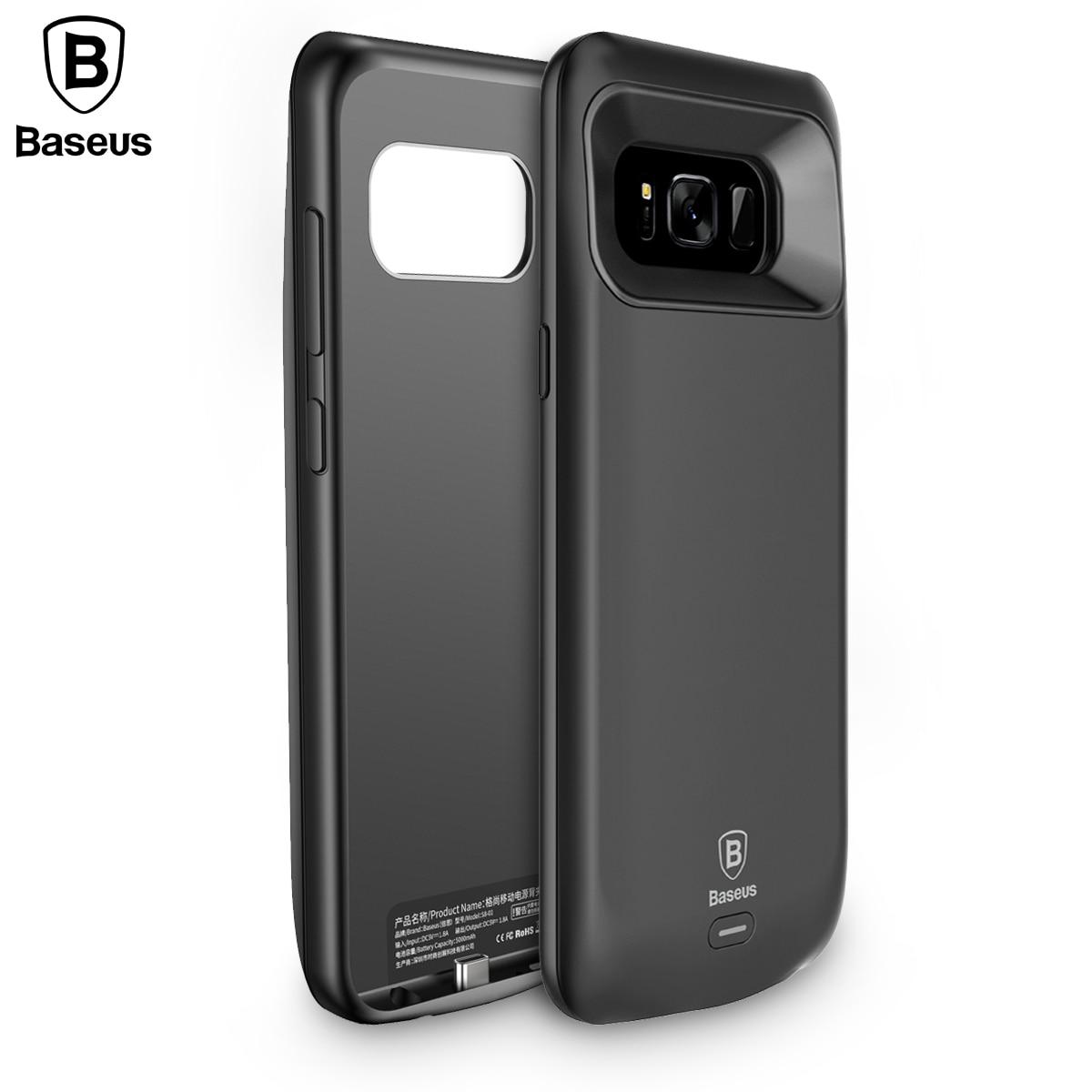 Цена за Baseus Дело Зарядное устройство Для Samsung S8 S8 + 5500 мАч Резервное Копирование Внешняя Батарея Банк Питания Для Galaxy S8 Портативный Дело Powerbank