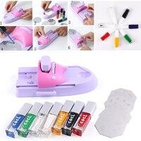 Nail Art Printer DIY Pattern Printing Manicure Machine Stamp Plate Stamper Drawing Polish Kit Set For