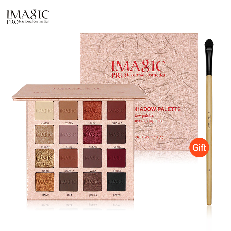IMAGIC New Shimmer Eyeshadow 16 Colors Palette Matte Eyeshadow Glitter Palette Make Up Set Beauty 12 colours shimmer matte eyeshadow palette