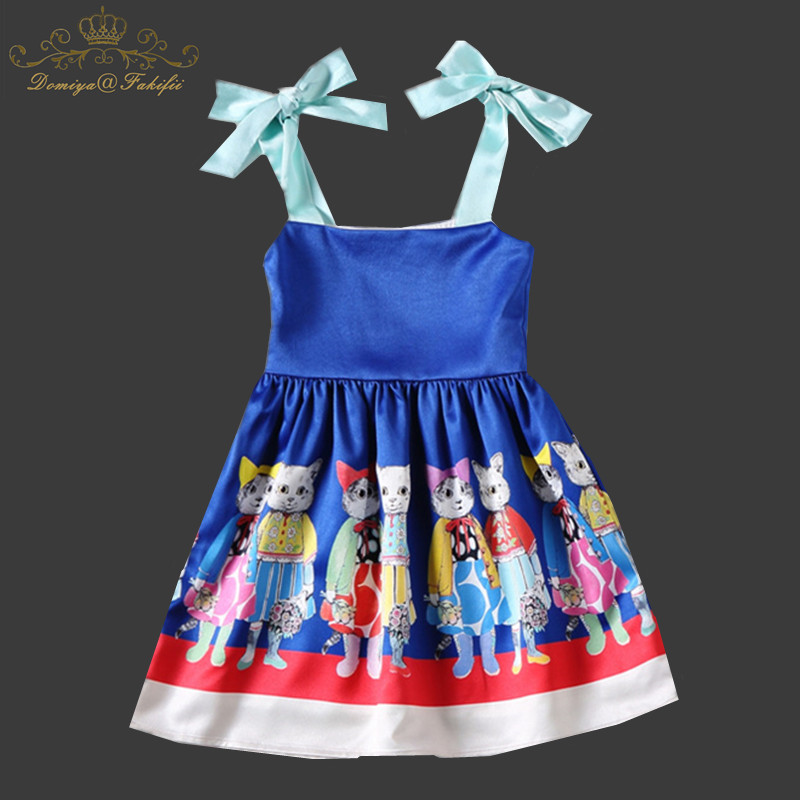 2018 Baby Girl Summer Casual Style Dress Character Print Princess Kids Wedding Dresses For Girls Clothes Toddler Girl Clothing summer baby girl printed pattern straps dresses toddler girls baby clothing sleeveless baby dress kids casual clothes yp