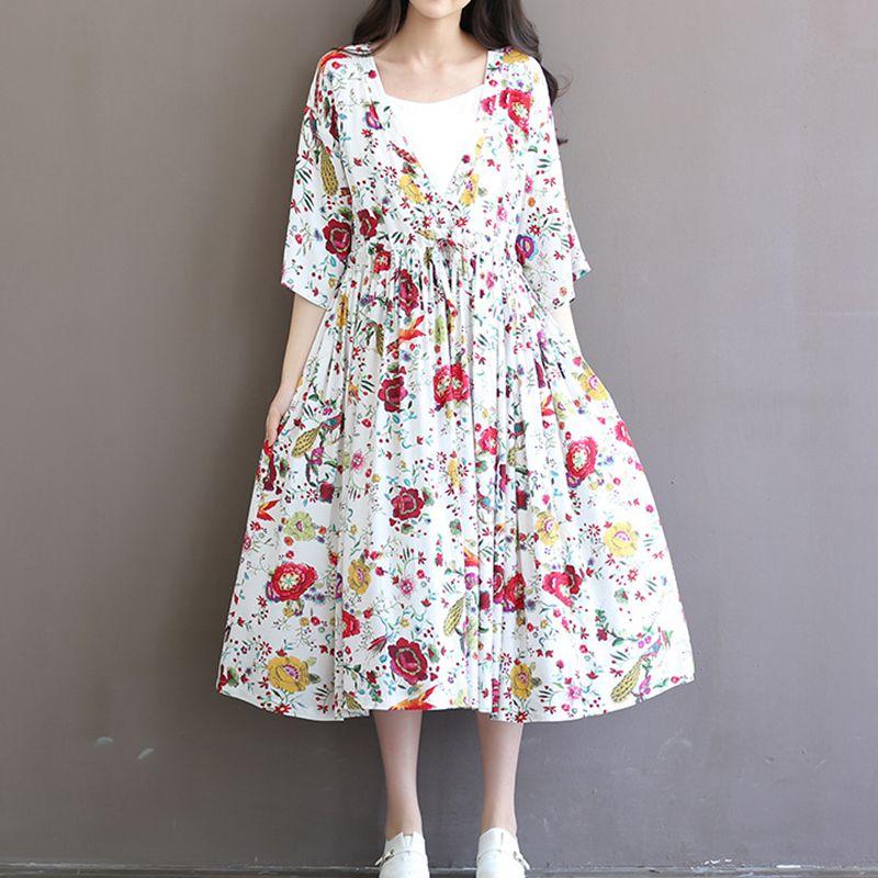 5f610c24 Odzież ciążowa sukienki dla kobiet w ciąży kobiety moda drukuj ...