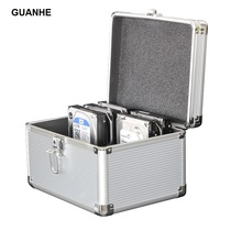 GUANHE 10-Bay 3.5-inch SSD/HDD Hard Drive Protective Storage Carrying Box Aluminum