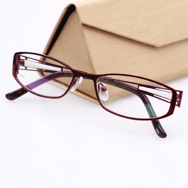 Moda Acessórios Óculos de Armações de óculos Sem Aro Completo Armações de Óculos de Olho para As Mulheres oculos de grau Óptico TD-2031 Cor Vermelho