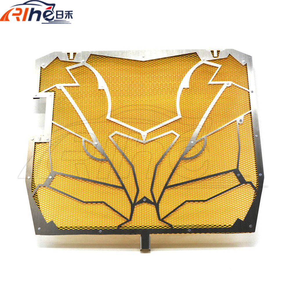 stainless steel radiator guard protector grille grill cover golden radiator grill cover For KAWASAKI ZX-10R 11 12 2013 2014 for kawasaki ninja650 er 6n 6f 2013 2016 motorcycle radiator protective cover grill guard grille protector protection for