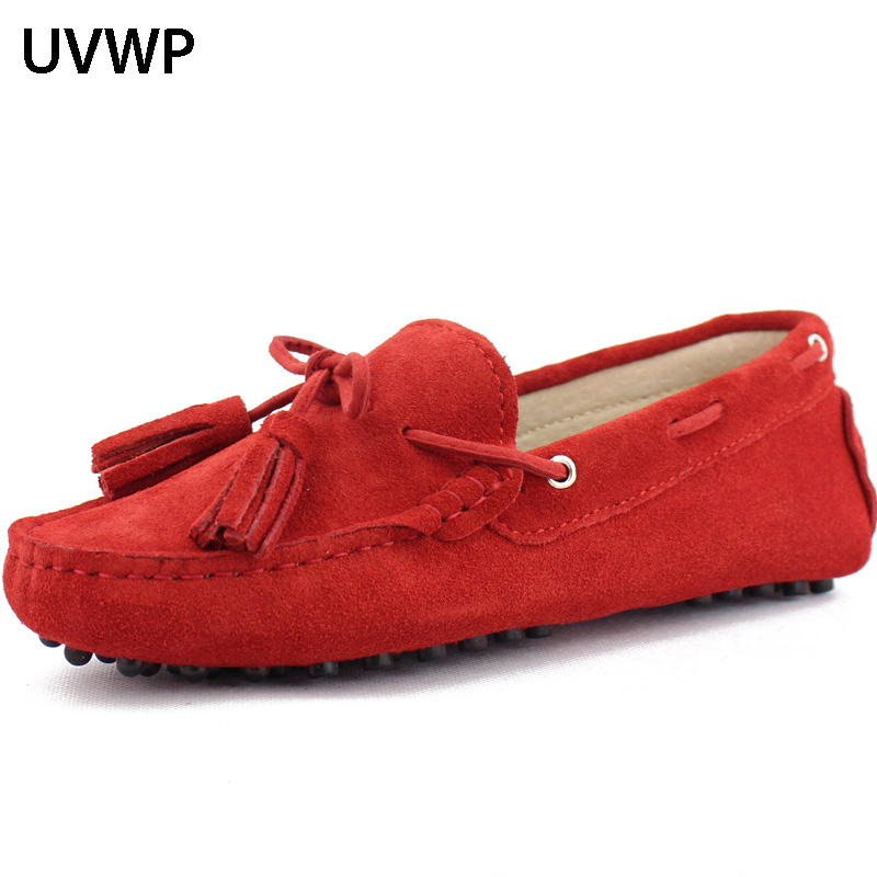 Casual Shoes Moccasins Women Flats Spring Non-Slip 100%Genuine-Leather Summer