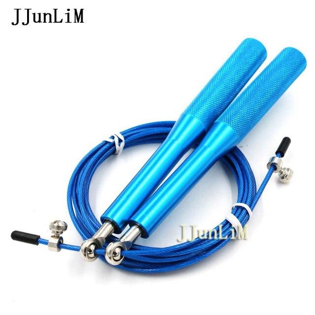 683a2bcde 10 UNIDS 3 METROS mango de aluminio ultra velocidad saltar la cuerda  Ajustable cuerda de saltar