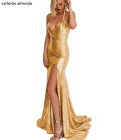 Vestidos de fiesta, с v образным вырезом, с блестками, кружевные платья для выпускного вечера, с коротким шлейфом, Длинное Элегантное платье, спереди,