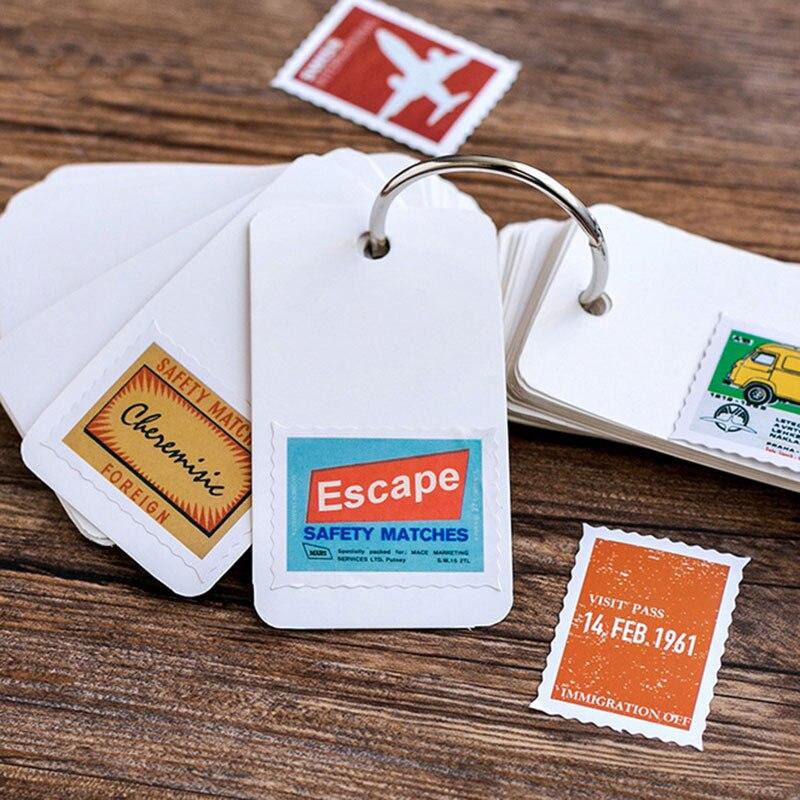 Купить с кэшбэком 46 Pcs/box Travel stamps Mini Paper Decoration DIY Scrapbook Notebook Album Sticker Stationery Kawaii Girl  Sticker