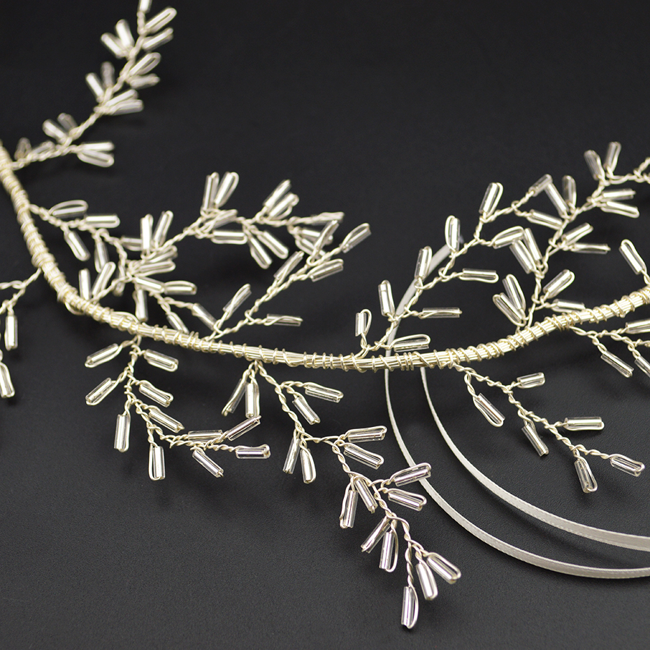 Silver Fashion Women 39 s Crystal Hair Band Handmade Princess Head Jewelry Female Hair Hoop Bridal Wedding Hair Accessories in Hair Jewelry from Jewelry amp Accessories