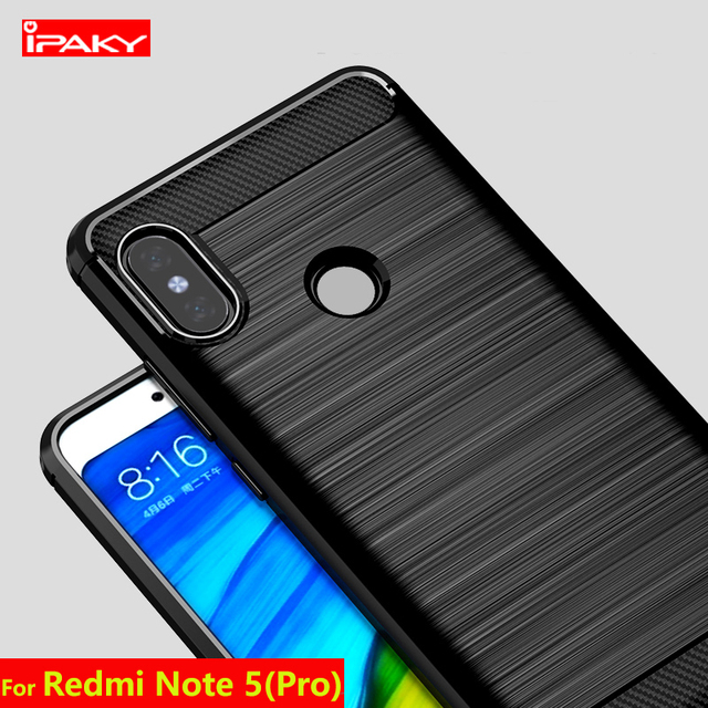 buy popular 586b7 c9672 US $4.99 |IPAKY Case for Xiaom Redmi Note 5 Pro Soft Silicone Shockproof  Carbon Fiber Case For Xiaomi Mi A1 MI 5X Ultra Thin Phone Cover -in Fitted  ...