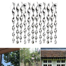 12pcs Bird Repellent Scare Rods Scarer Creative Plastic Hanging Protect Crop Deterrent Tree Hunting Decor Garden Supplies