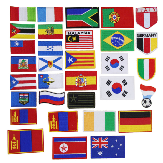 Verrassend 1 stuk Wereld Vlaggen geborduurde iron patches doek accessoires UJ-71