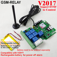 Free Shipping Post Airmail 1pcs Seven Relay Real Time GSM Remote Control Board