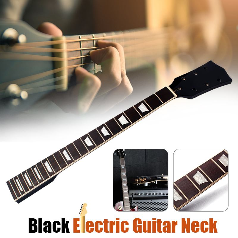Electric Guitar Neck for Guitar Replacement Parts Maple Rosewood 22 Fret Black Electric GuitarsElectric Guitar Neck for Guitar Replacement Parts Maple Rosewood 22 Fret Black Electric Guitars