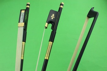 2 pcs new PRO black 4/4 Carbon fiber cello bows ebony frog inlaid copper flower Free Shipping