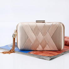new tassel evening clutch handbag brand lady handmade night club party bag casual chain hasp