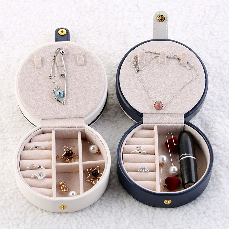 Jewelry Box Creative Ring-Box Decorations Portable Home Bedroom Pendant Snap