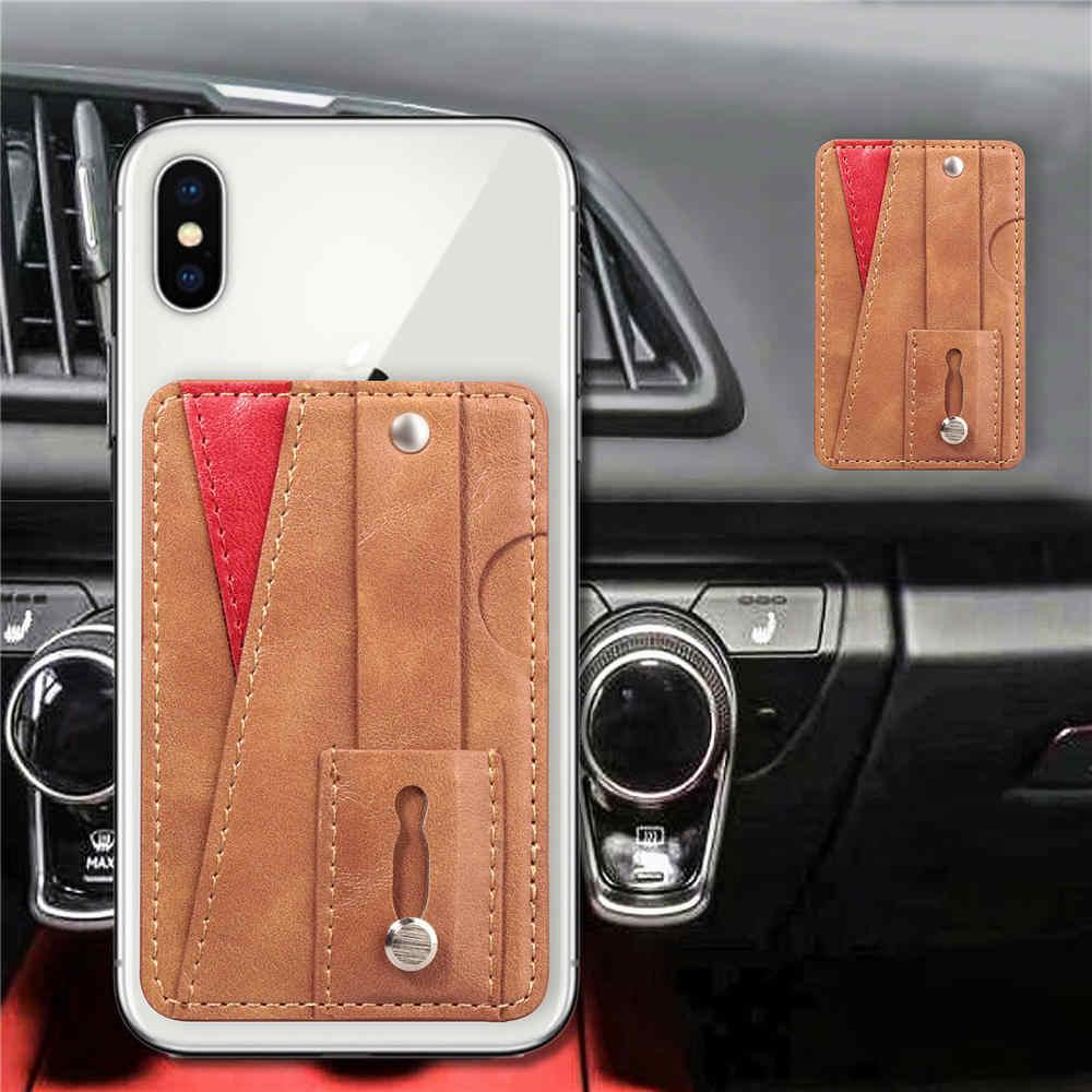 Роскошный кожаный кошелек с отделением для мобильного телефона, кредитный ID держатель для карт чехол для наклейки, портативный карман для телефона для huawei Crazy Horse Redmi чехол