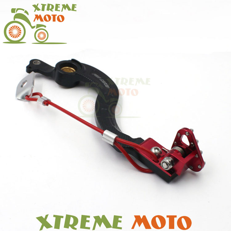 CNC Billet Forged Red Flexable Rear MX Foot Brake Lever Pedal For Honda CRF250X CRF450X Motocross Dirt Pit Bike Off Road Racing cnc gear shifter shift lever 7108 for crf250r 04 09 crf250x 04 09 crf450r 02 motorcycle motocross mx enduro dirt bike off road