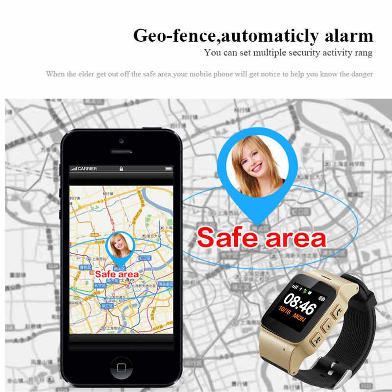 2018 D99 Elderly Smart Watch Anti-lost SOS Wifi GPS LBS Tracking Sim Card Waterproof Smartwatch Gps Tracking Watch For Adult