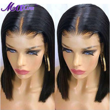 Maxine Bob Wig Short Brazilian Straight Bob Lace Front Human Hair Wigs Pre Plucked With Baby Hair Remy Hair 150% Density(China)