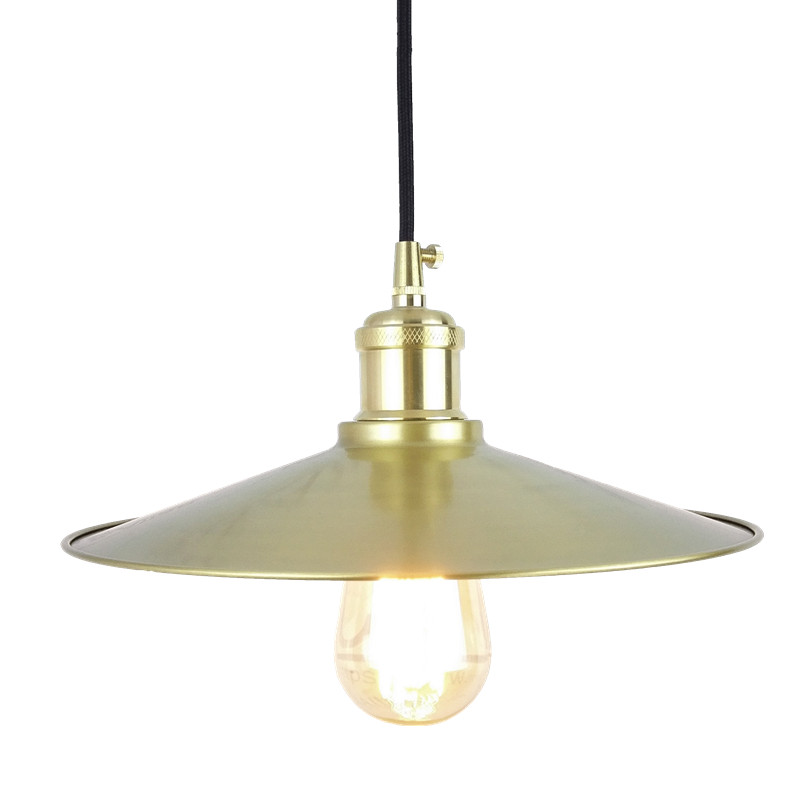 D270mm copper cone shade Vintage brass Pendant Light Loft Creative Personality Style For Living Room coffee shop home decoration