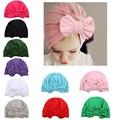 9edba6b457b 1 Piece Children Bowknot Kids Bow Cap Baby Hat Newborn Girls clothes  accessories infant beanie turban