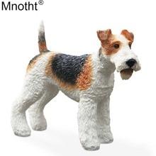Mnotht Collection Toy 1/6 Fox Terrier Dog Simulation Animal Dog Modell Högkvalitetsharts för Action Figur Scene Accessory md