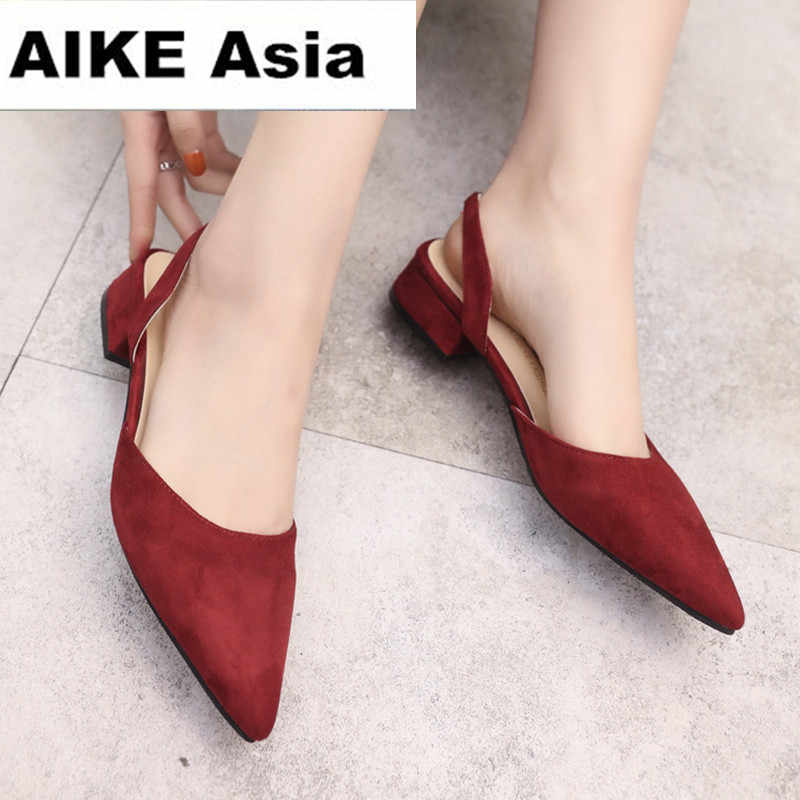 2018 Women Pumps Ankle Strap Thick Heel Women Shoes Square Toe Mid Heels  Dress Work Pumps 34cd6e251fe1