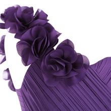 One Shoulder Purple Flower Girl Dresses