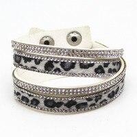 New Arrival Hot Selling 7 Color Vintage Faux Leather Bracelet Winter Style Leopard Skin Bracelets Trendy Women Jewelry