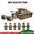 632004 1753 шт. военный мировой войны Израиль M60 magach главный боевой танк 2in1 Ww2 армейские силы, строительные блоки, игрушки для детей, подарок