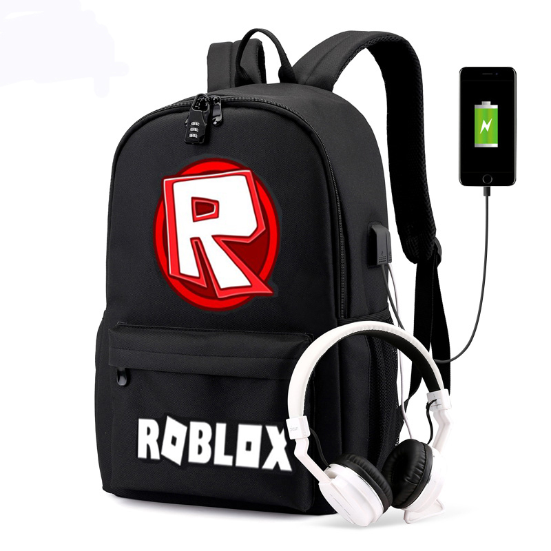 In Hot Spiel Roblox Usb Rucksack Passwort Lock Bagpack Für Jungen Girs Zurück Zu Schule Buch Taschen Jugendliche Reisetasche H215 üBerlegene QualitäT