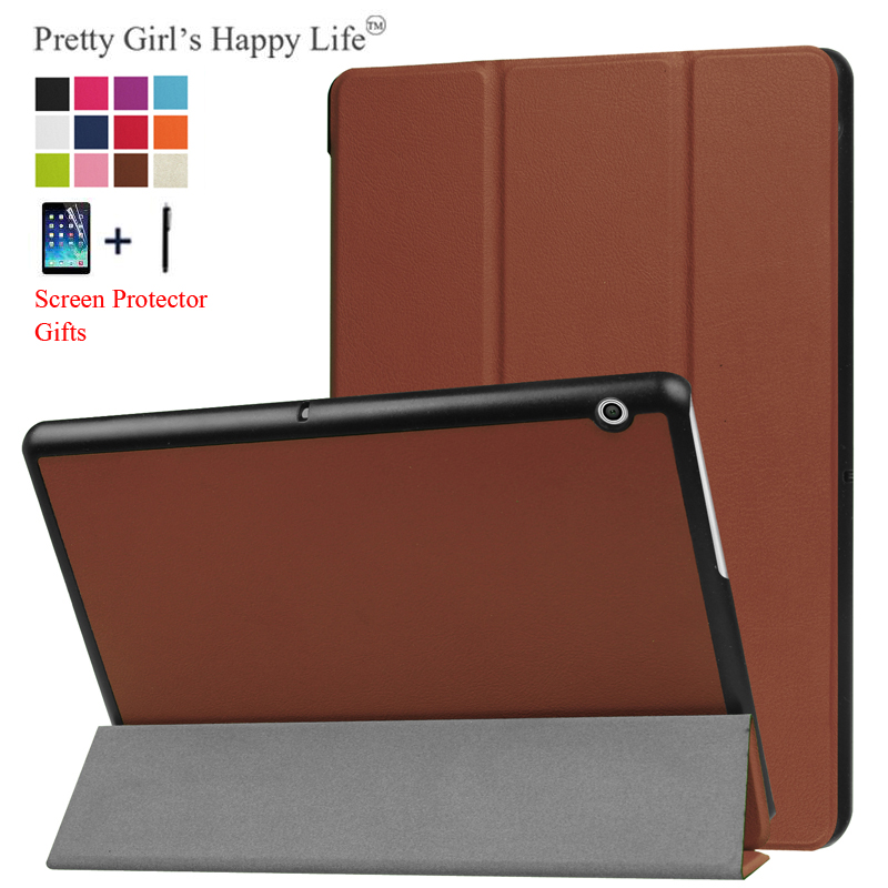 For HUAWEI MediaPad T3 10 9.6'' Case Cover For Huawei Honor Play Pad 2 9.6 Tablet Stand Leather Fundas+Screen Protector Stylus