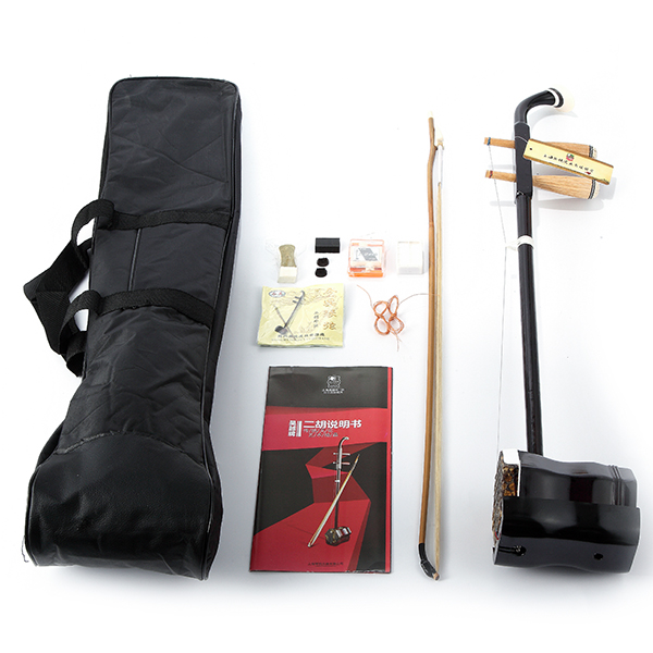 Erhu 2 String Round Pole Hexagonal Shape With Bow/Rosin/Tuner/Bridge Chinese Musical Instrument new arrival screw nut plug saxophone trumpet erhu musical woodwind instrument microphone prevent mechanical noise for helicopter