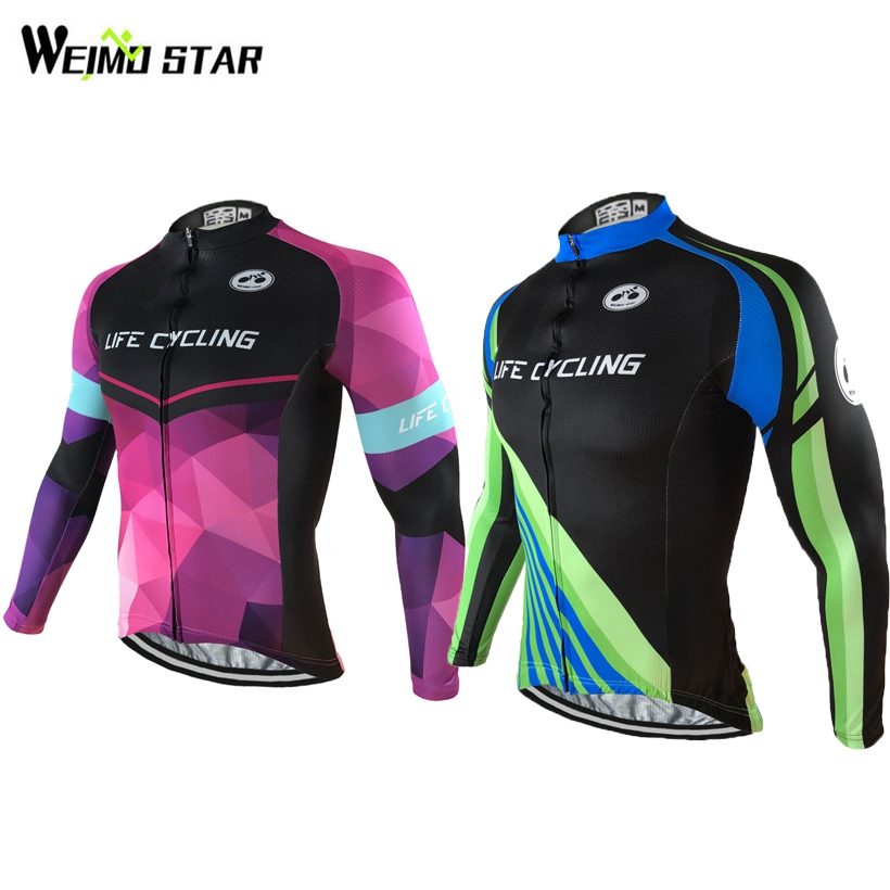 Weimostar Hot Men Bike Long jersey Pro Team Cycling clothing Riding Shirts Top Male MTB Ropa Ciclismo Wear Maillot Size S-XXXL