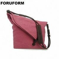 2015 Canvas Genuine Leather Men Messenger Bags Vintage Crossbody Bags For Women Casual Men S Travel