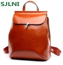 Новый Япония и корейский стиль натуральная кожа женщины рюкзак старинные школьный рюкзак для девочек Брендовая Дизайнерская обувь сумки лучший подарок