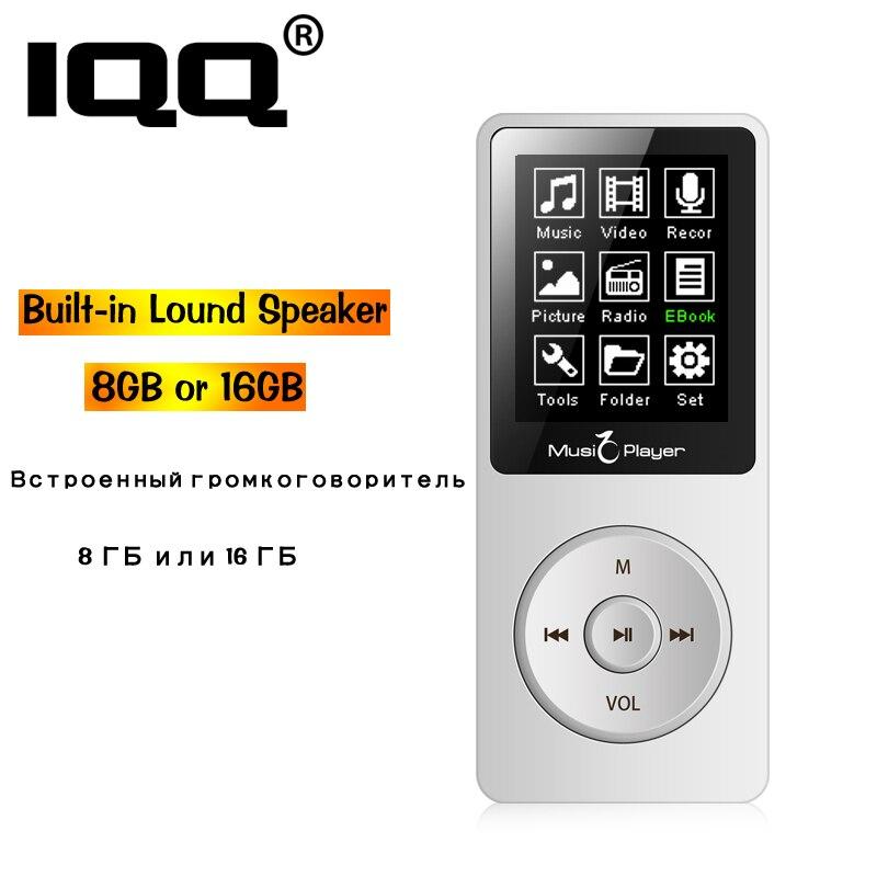 IQQ neue version MP3 Player Eingebaute 8 GB speicher mit FM/Radio kann spielen 80 h Tragbare Verlustfreie sound walkman können erweitern bis zu 128 GB
