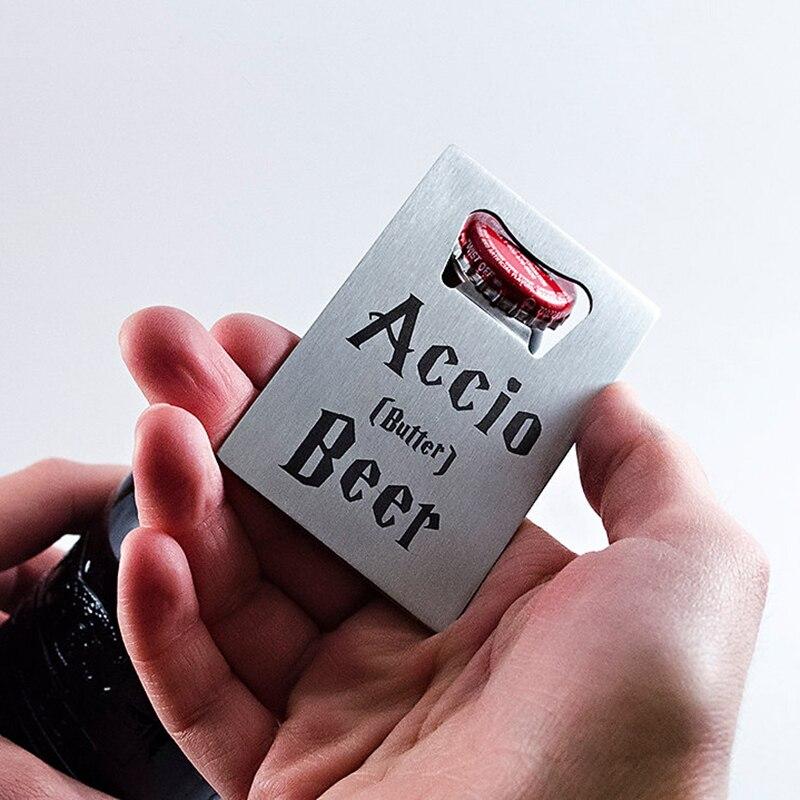 100 Pcs Personnalis Carte De Visite En Mtal Bouteille Bire Ouvre Acier Inoxydable Format Crdit Dcapsuleur Bar Outil Livraison Impression