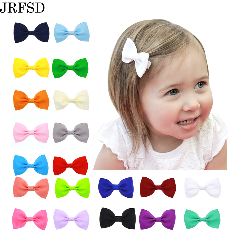 JRFSD 20PCS/Lot Hair Clip Mini Bow Hair Bands Accessories knot Hairpins Hair Bow Headband kids Hair Accessories HDJ-2 jrfsd 7pcs set new fashion girls hair clip cartoon images hair bands princess mini dress hairgrip kids hair accessories